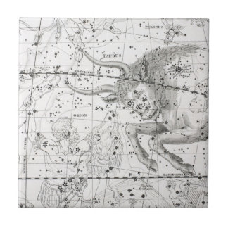 Map of The Constellations Plate XIV Ceramic Tile
