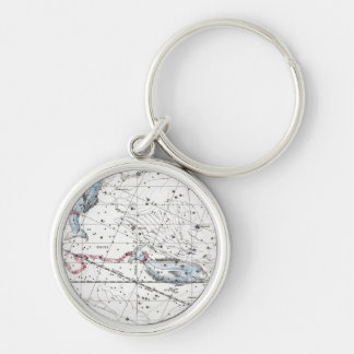 Map of The Constellations Plate XXII Key Ring