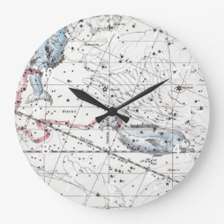 Map of The Constellations Plate XXII Large Clock