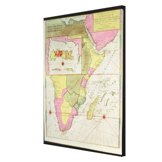 Map of the Countries of Africa Stretched Canvas Prints
