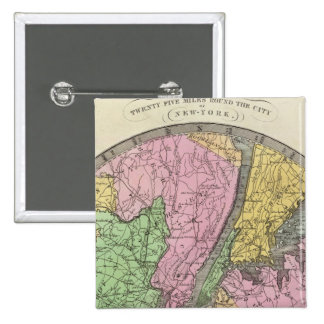 Map of the Country 15 Cm Square Badge