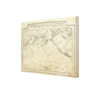 Map of the Discoveries made by Capts Cook & Clerk Canvas Prints