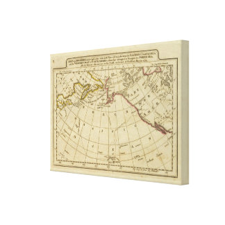 Map of the Discoveries made by Cook and Clerke 2 Canvas Prints