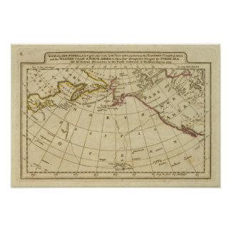 Map of the Discoveries made by Cook and Clerke Posters