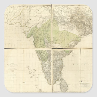 Map of the East Indies with the Roads (1768) Square Sticker