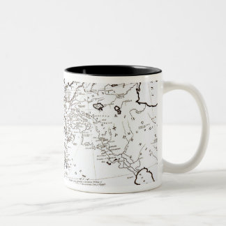 Map of the Eastern Part of the Roman Empire Two-Tone Coffee Mug