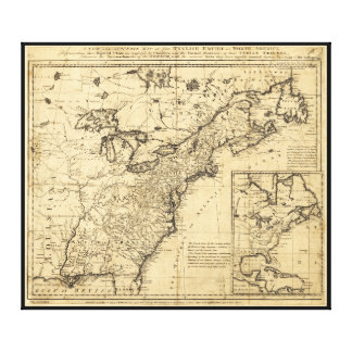 Map of the English Empire in North America (1755) Gallery Wrap Canvas
