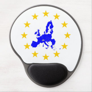 Map of the European union with star circle Gel Mouse Pad