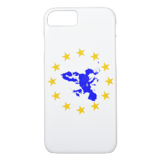 Map of the European union with star circle iPhone 8/7 Case