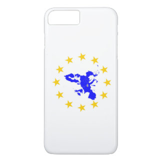 Map of the European union with star circle iPhone 8 Plus/7 Plus Case