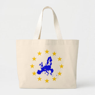 Map of the European union with star circle Large Tote Bag