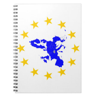 Map of the European union with star circle Notebooks