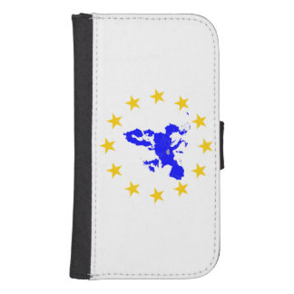Map of the European union with star circle Samsung S4 Wallet Case