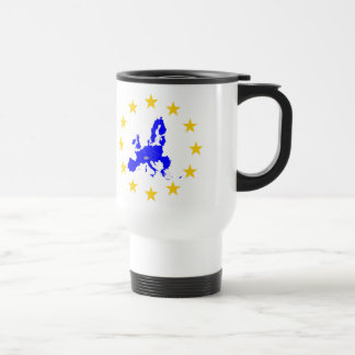 Map of the European union with star circle Travel Mug