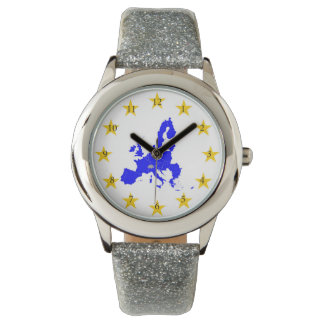 Map of the European union with star circle Watch