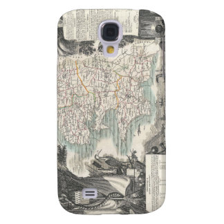 Map of the French Department of Finistere Samsung Galaxy S4 Cover