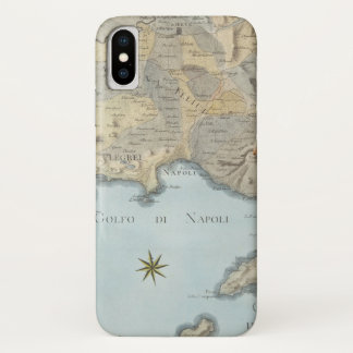Map of the Gulf of Naples and Surrounding Area iPhone X Case