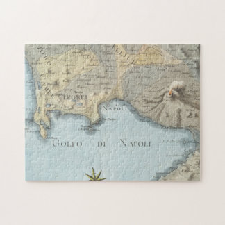 Map of the Gulf of Naples and Surrounding Area Jigsaw Puzzle