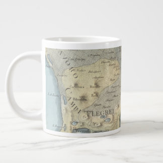 Map of the Gulf of Naples and Surrounding Area Large Coffee Mug