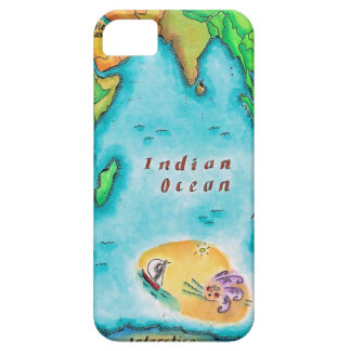 Map of the Indian Ocean iPhone 5 Covers
