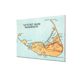 Map of the Island Canvas Print