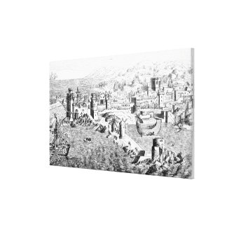Map of the Island of Rhodes Stretched Canvas Print