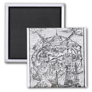Map of the Island of Utopia, Book frontispiece Magnet