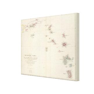 Map of The Leeward Islands Canvas Print