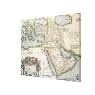 Map of the Middle East Canvas Prints