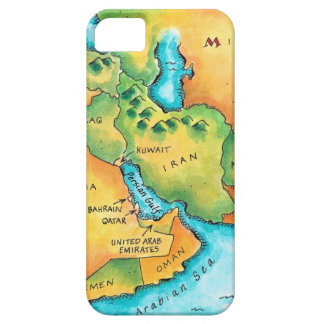 Map of the Middle East Case For The iPhone 5
