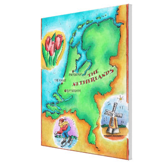 Map of the Netherlands Canvas Prints