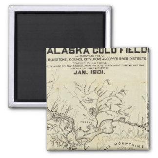 Map Of The New Alaska Gold Fields Refrigerator Magnet
