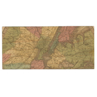 Map of the New York Wood USB 2.0 Flash Drive