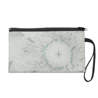 Map of the North Pole Wristlet Clutches