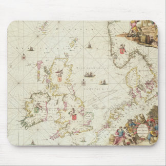 Map of the North Sea, c.1675 Mouse Pad