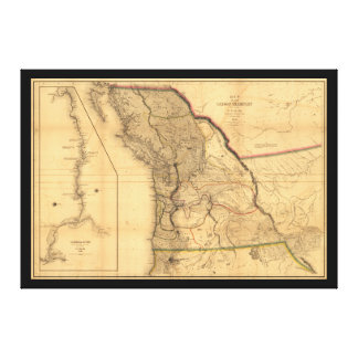 Map of the Oregon Territory (1844) Canvas Print