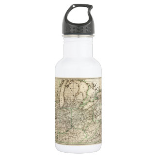 Map of the Pennsylvania Railroad (1871) 532 Ml Water Bottle
