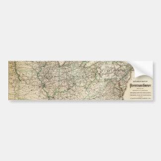 Map of the Pennsylvania Railroad (1871) Bumper Sticker