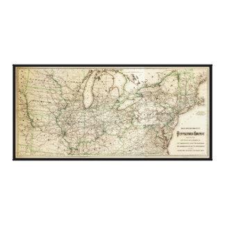 Map of the Pennsylvania Railroad (1871) Canvas Print