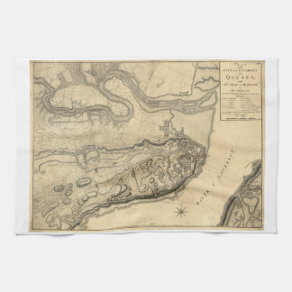 Map of the Province of Quebec Canada (1776) Tea Towel