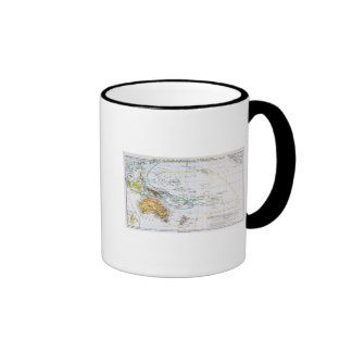Map of the races of Oceania and Australasia Ringer Coffee Mug