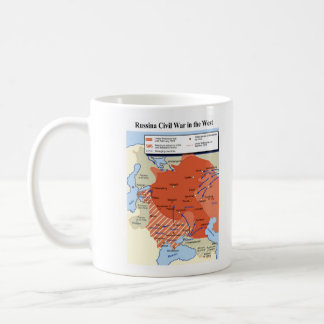 Map of the Russian Civil War in the West 1918-1920 Coffee Mug