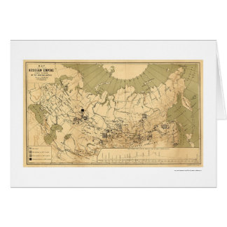 Map of the Russian Empire's Precious Metals 1890 Card