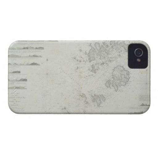 Map of the Scilly Isles in Britain iPhone 4 Cover