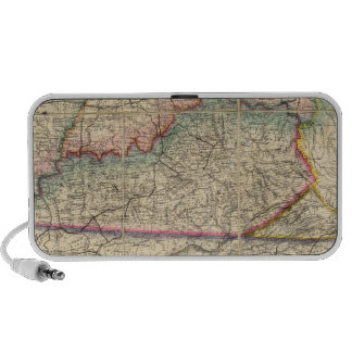 Map of The Southern States of America Laptop Speaker