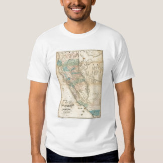 Map of the State of California Tee Shirts
