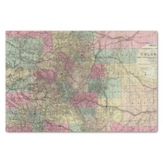 Map of the State of Colorado Tissue Paper