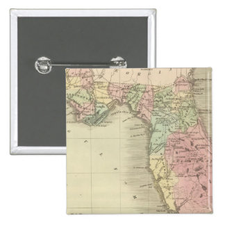 Map of the State of Florida 15 Cm Square Badge