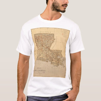 Map of the State of Louisiana (1876) T-Shirt