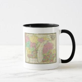 Map of the State of Michigan Mug